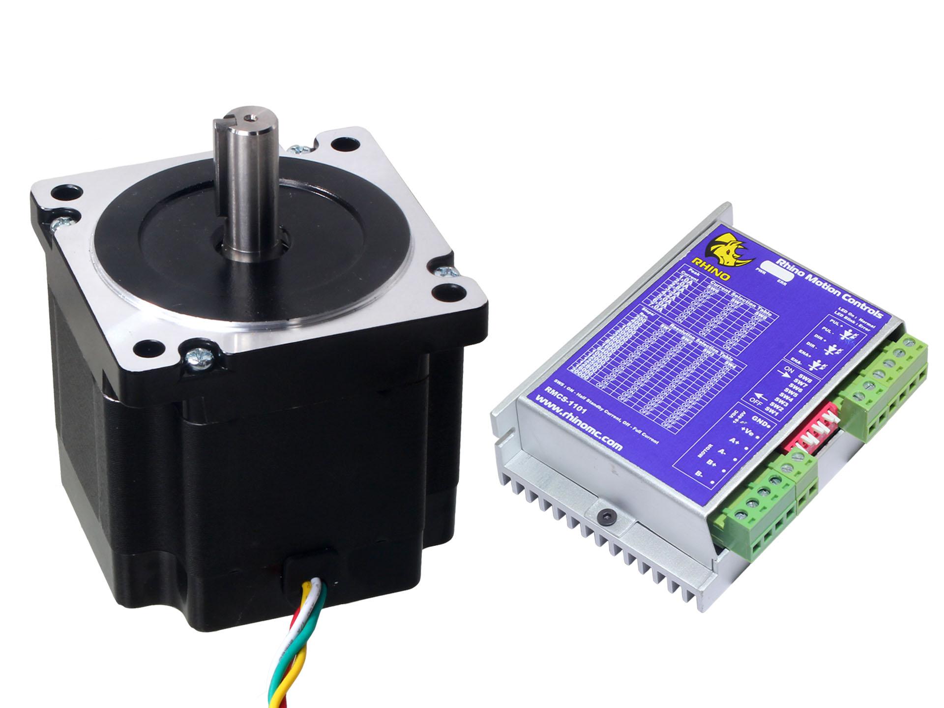 Nema34 stepper motor 45kgcm torque with rmcs 1101 drive for Stepper motor torque control