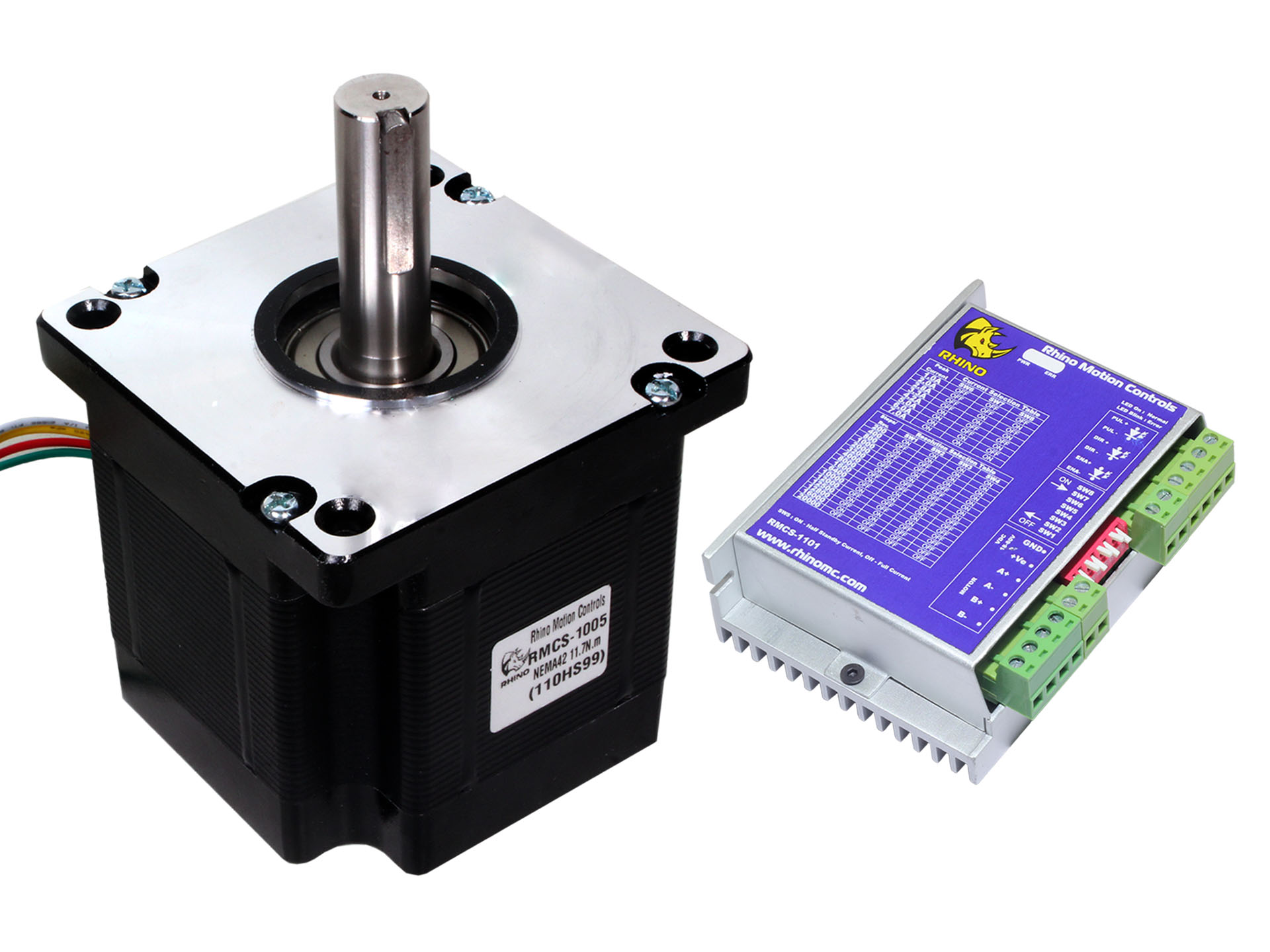 Nema42 Stepper Motor 110kgcm Torque With Rmcs 1101 Drive 1156 Bipolar Circuitdb Ideal For Cnc Machines And Other Machinery Standard Frame Size Configuration Works Well